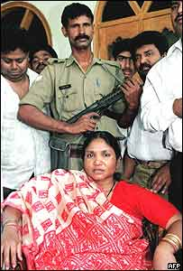 Bandit Queen Phoolan Devi and supporters