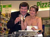 Newlyweds Pete Freeman, 54, and Jill Piggott 42