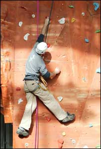 Xscape, rock climbing wall