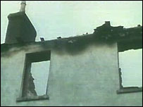 Burnt down holiday cottage