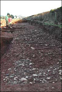 The Roman road uncovered in Herefordshire