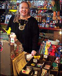 Manageress Gabrielle Warden in the toy shop