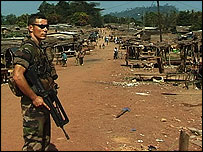 French soldier in Ivory Coast (archive)