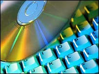 CD and a computer keyboard