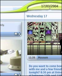 Screengrab of Lifeblog on a PC, Nokia