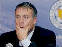 Leicester manager Micky Adams deep in thought