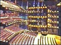 Impression of the Wales Millennium Centre auditorium