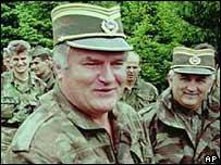 Ratko Mladic. Archive picture