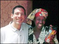 Gemima Mukashyaka and UCR's Jeremy Torz