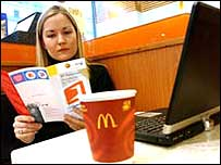 BT launches wi-fi in McDonald's
