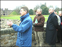 Project leader John Edwards and BACH delegates