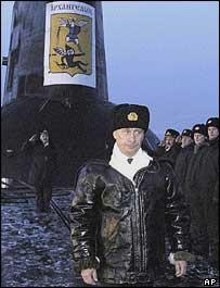 President Putin on the Arkhangelsk submarine