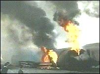 Iranian freight train explosion