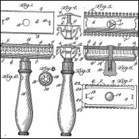 Reproducci�n de la patente original otorgada a Gillette en 1904 (ilustraci�n: cortes�a Gillette)