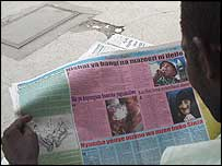 Man reading the paper