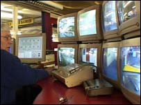 Control room at Bold Lane car park, in Derby