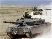 British Army Challenger tanks