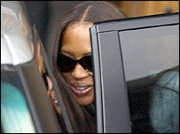 Naomi Campbell after leaving the House of Lords