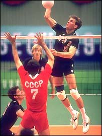 USSR and USA in action at the 1988 Olympics