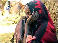 Somali refugee in Kenya, 2002, after fighting between Ethiopian-backed Somali militia and a faction favorable to the transitional government of President Abdiqasim Salad Hassan