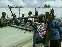 Rebels on the streets of Mogadishu