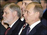 Сергей Миронов и Владимир Путин