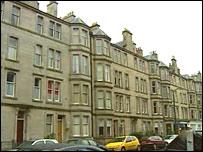 Tenement flats in Edinburgh