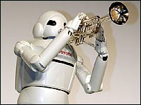 Toyota's trumpet-playing robot