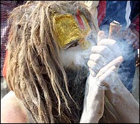 Sadhu (holy man) in Nepal