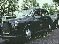 Generic black taxi cab