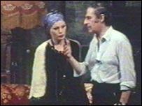 Menotti at an opera rehearsal