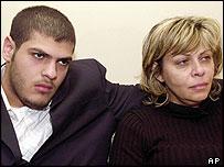 Abu Abbas' wife Reem Nimr with their son Ali Abbas