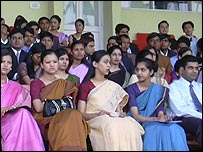 Potential air hostesses and stewards in India
