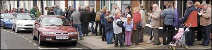 Queue in Scarborough