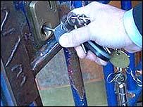 Prison officer with keys