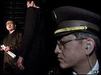 Security round Alberto Fujimori in Japan