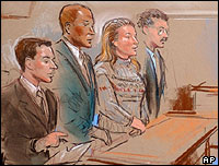 A court drawing of Susan Lindhauer's appearance at court in Baltimore