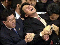 Scuffles in the South Korean parliament