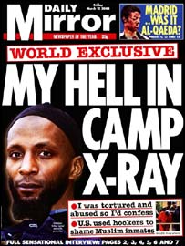 Jamal Udeen on the front page of the Daily Mirror