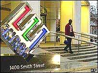 Antiguo edificio central de Enron