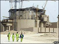 Iran's Bushehr nuclear plant under construction