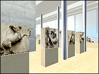 Architect Bernard Tschumi's drawing of the new Acropolis museum