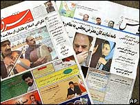 Two Iranian papers shut down on the eve of elections
