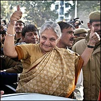 Sheila Dikshit - chief minister of Delhi