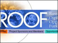Screengrab of real Roof website, Roof