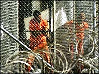 Detainees at Guantanamo Bay