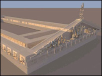 Virtual Parthenon reconstruction (Picture - ICT)