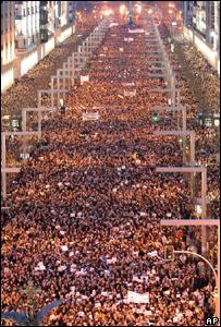 Демонстрация в Сарагосе