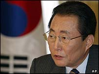South Korea's acting president Goh Kun