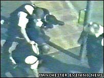 CCTV footage courtesy of Manchester Evening News